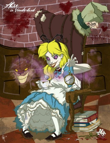 Alice in Wonderland wallpaper entitled Twisted Princess- Alice in Wonderland