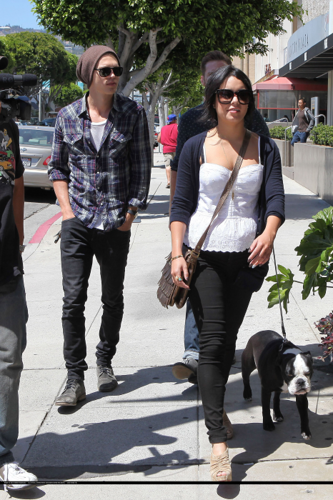 Vanessa - Arriving at Newsroom in LA - May 14, 2012