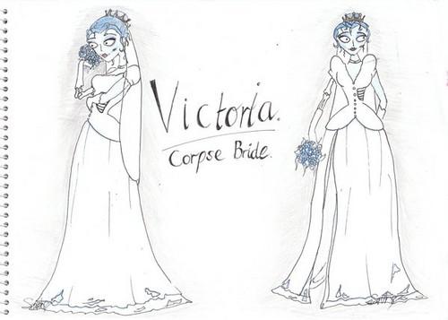 Victoria as corpse bride