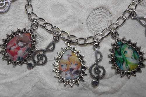 Pick Your Own Vocaloid Characters charm bracelet