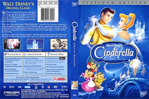 Walt 디즈니 DVD Covers - Cinderella: 2 Disc Platinum Edition