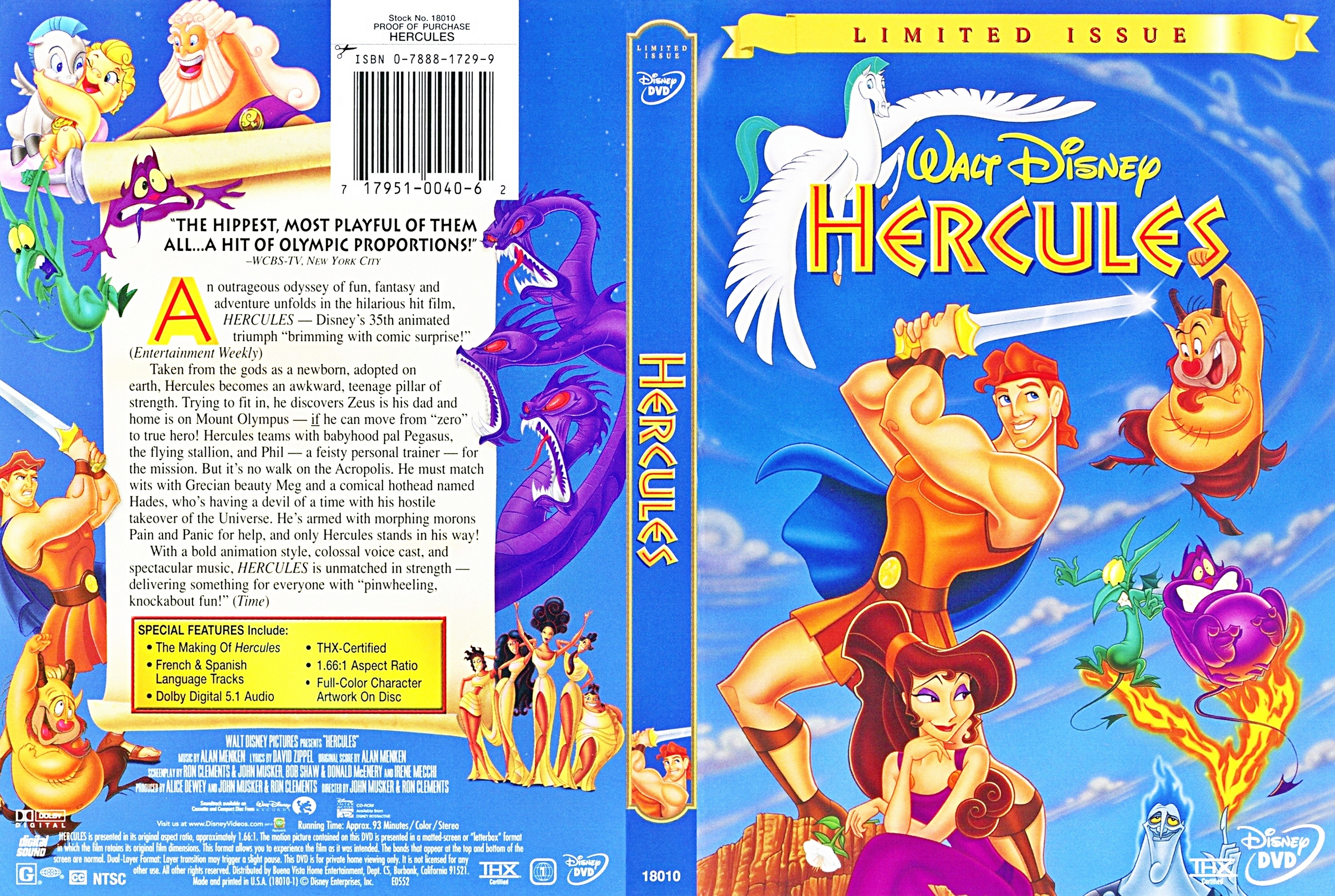 Walt ディズニー DVD Covers - Hercules: Limited Issue