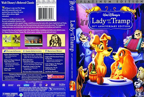 Walt 디즈니 DVD Covers - Lady and the Tramp: 2 Disc Platinum Edition