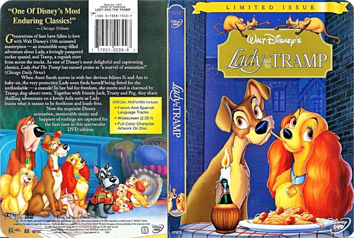 Walt 디즈니 DVD Covers - Lady and the Tramp: Limited Issue