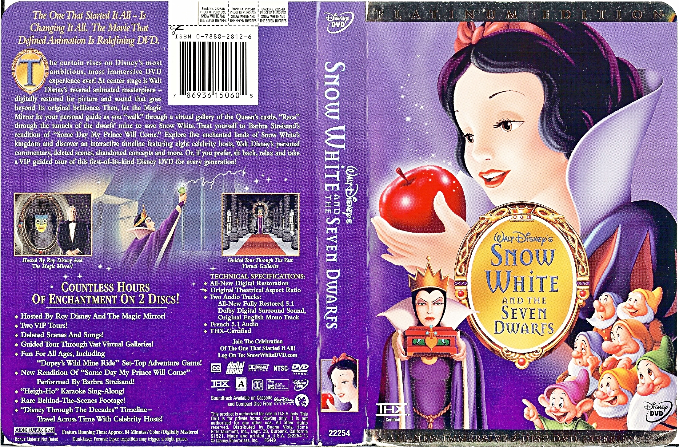 Walt ディズニー DVD Covers - Snow White and the Seven Dwarfs: Platinum Edition