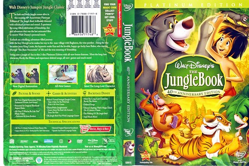 Walt Disney DVD Covers - The Jungle Book: 2 Disc Platinum Edition