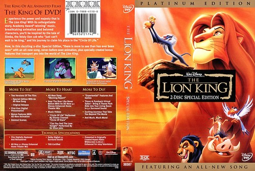 Walt disney DVD Covers - The Lion King: Platinum Edition