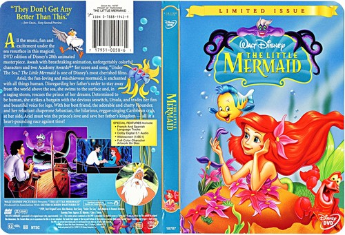 Walt Disney Characters wallpaper probably with anime entitled Walt Disney DVD Covers - The Little Mermaid: Limited Issue