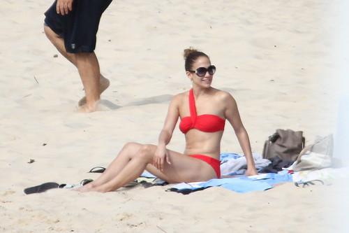 Wearing A Bikini At A Beach In Brazil [30 June 2012]
