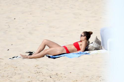 Wearing A Bikini At A 바닷가, 비치 In Brazil [30 June 2012]