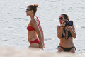 Wearing A Bikini At A plage In Brazil [30 June 2012]