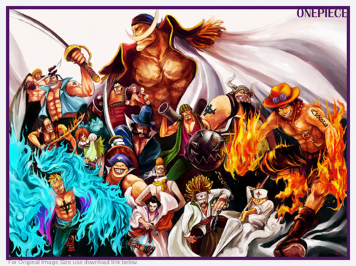 Edward Whitebeard Newgate achtergrond containing anime called Whitebeard + Commanders