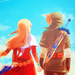 Zelda and Link - the-legend-of-zelda icon