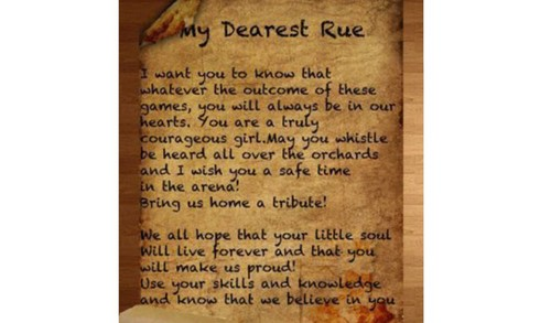 a letter to rue