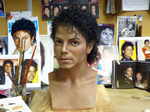 amazing MJ wax portrait