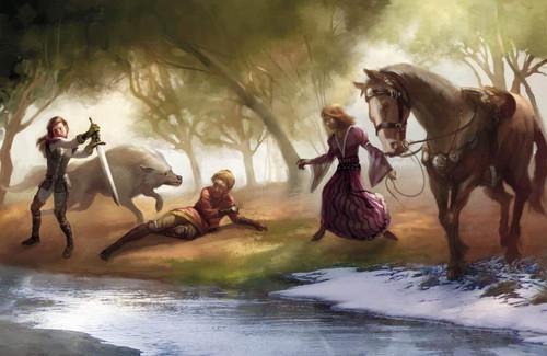 Arya Stark, Joffrey Baratheon & Sansa Stark