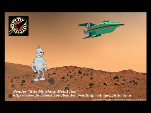 Bender's journey on Mars