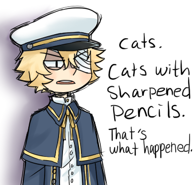 cats with sharpend pencils - vocaloids Photo