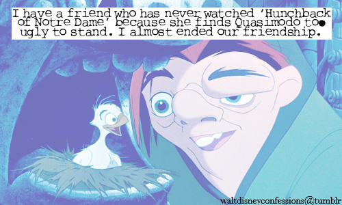The Hunchback of Notre Dame wallpaper with anime entitled disney confessions