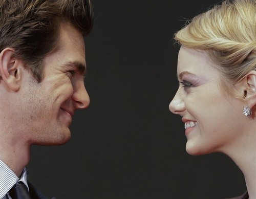 Andrew Garfield and Emma Stone wallpaper containing a business suit called emaa and andrew