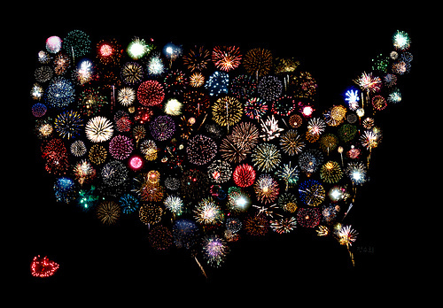 fire works USA - united-states-of-america Fan Art