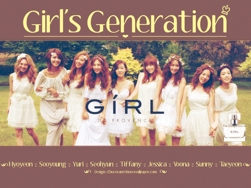 "Girls Generation/SNSD wallpaper with a bridesmaid called Girls' Generation ""GiRL de Provence"""