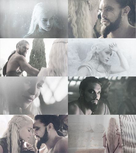 Daenerys Targaryen & Khal Drogo - game-of-thrones Fan Art