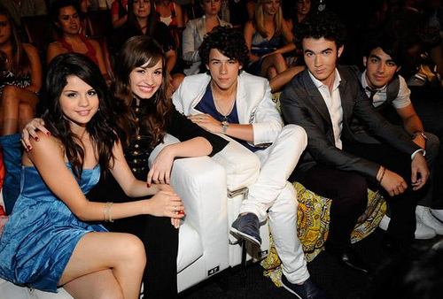 jonas , demi and selena