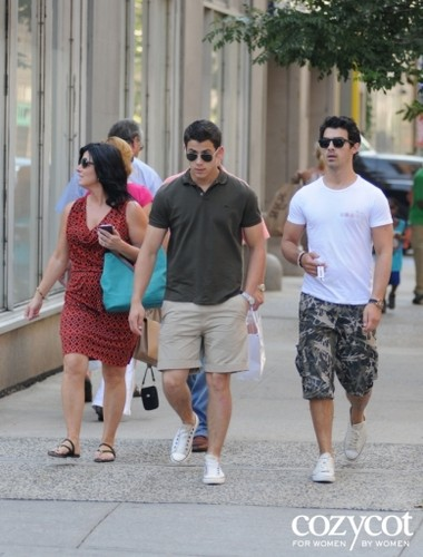 jonas family outing plus Joe's girlfriend