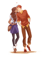 kataang..modern couple - avatar-the-last-airbender fan art
