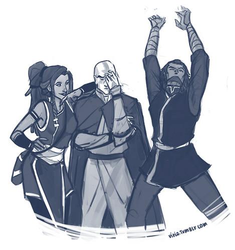 Kya tenzin and bumi avatar the legend of korra photo