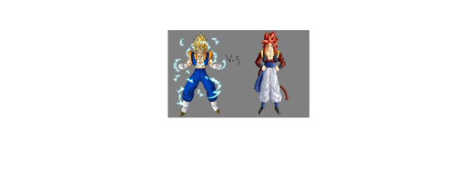 majin ssj2 gogito vs ssj4 gogeta - dragon-ball-z Photo