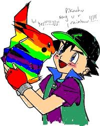 Pokemon Guys वॉलपेपर containing ऐनीमे called ranbow,ash 2