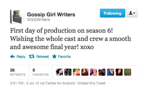 random tweets season 6 - gossip-girl Photo
