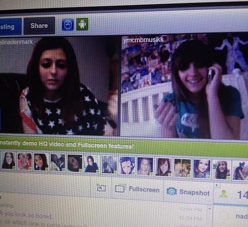 selina denmark and paris jackson on tinychat