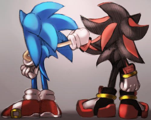 Shadow and sonic sonic and shadow photo 31399912 fanpop - Sonic et shadow ...