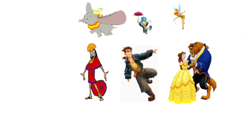वॉलपेपर dumbo pinochio peterpan emperors new groove treasure planet beauty and the beast