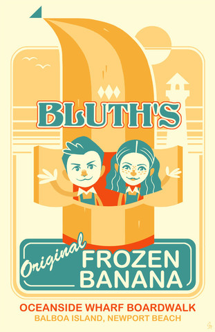 """Bluth's Original Frozen Banana"" by Glen Brogan - arrested-development Fan Art"