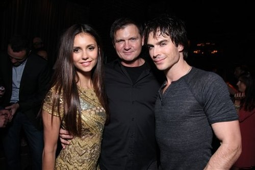 @ COMIC CON after party 2012 - ian-somerhalder-and-nina-dobrev Photo