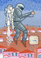 """Destruction of Sudden Hill: The Jetpack"" by Gabe Lanza - arrested-development fan art"