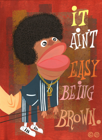 "Arrested Development wallpaper probably containing a sign and anime called ""It Ain't Easy Being Brown"" by Carlos Ramos"