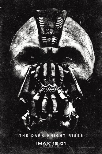 The Dark Knight Rises wallpaper entitled 'The Dark Knight Rises' Midnight IMAX Poster