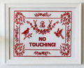 """There's No Place Like Bluth"" Needlepoint by Eileen Schinderman - arrested-development fan art"