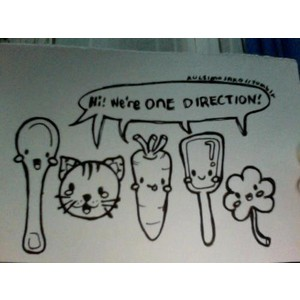 1D mini dessins animés <3