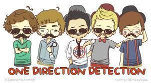 One Direction wallpaper containing anime called 1D mini cartoons <3