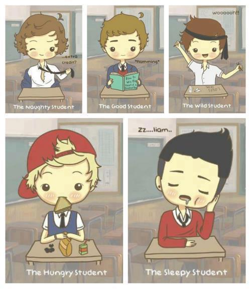 One Direction preferences and one shots - He tries to help you study