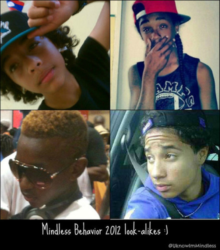 Princeton (Mindless Behavior) karatasi la kupamba ukuta titled 2012 MB look alikes