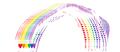 3D Heart Rainbow
