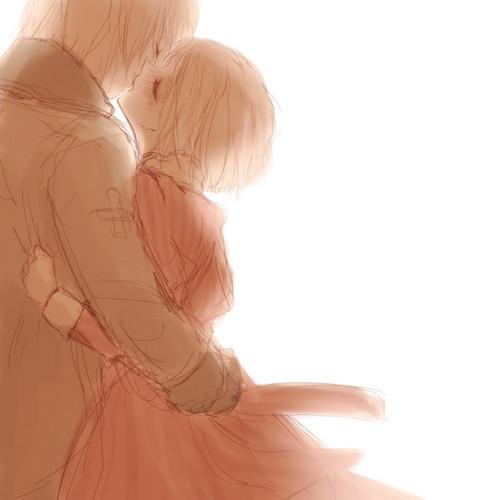 A loving kiss. >^< AWW!