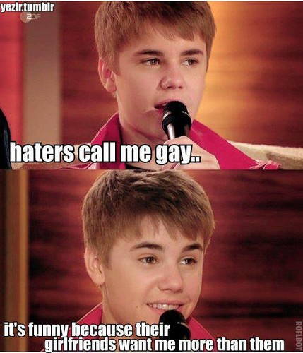 ATTENTION beliebers..this answer of justin bieber from terrible hatters